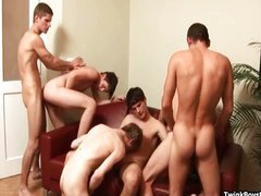 Gangbang Twinks Bareback And Rimming
